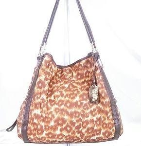 Coach Madison Ocelot Print Shoulder Bag